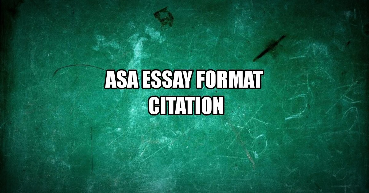 ASA Format Citation: Superhero Guide to Referencing Academic Papers