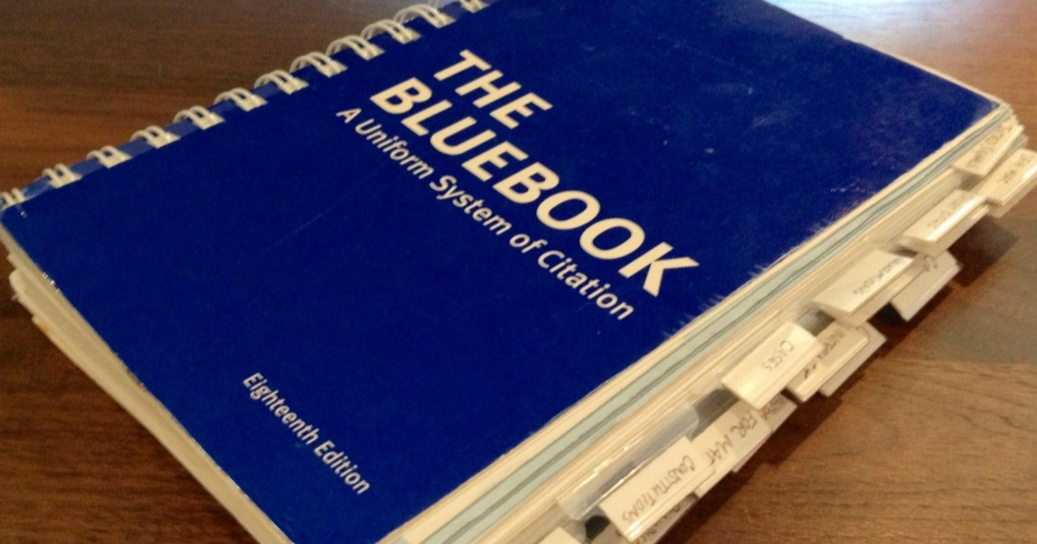 Bluebook Citation: Introduction to the World of Law